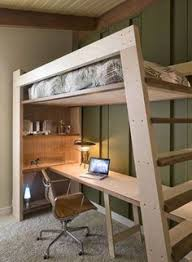 loft with desk. this loft bed is designed to be both durable and functional while showing clean modern lines. the pictured a full size made out of   pinterest with desk f