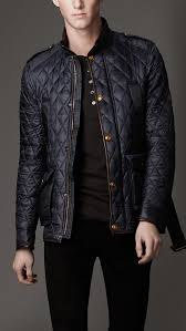 Quilted Jackets & Puffer Jackets for Men   Black quilt and Quilted ... & Black Quilted Waxed Cotton Jacket, By Burberry. Men's Fall Winter Fashion. Adamdwight.com