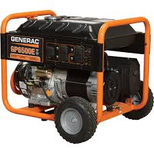 electric generators. FREE SHIPPING \u2014 Generac GP6500E Portable Generator 8125 Surge Watts, 6500 Rated Electric Generators D