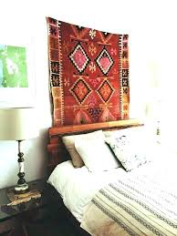 hang rug on wall how