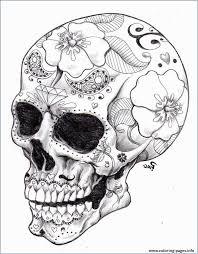 Coloring Sugar Skull Printable Image Inspirations Coloring Mexican