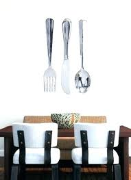 extraordinary fork and spoon wall decor aluminum r x 8 inch large knife silver art pottery barn