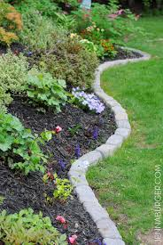 garden edgers. The Perfect Border For Your Beds: Defining A Gardens Edge With Inexpensive Stone That Fit Garden Edgers
