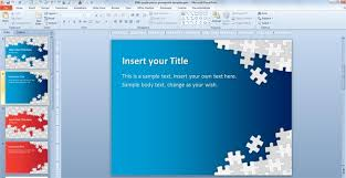 Powerpoint Templates 2007 Powerpoint Presentation Templates Free Download Puzzle 2007