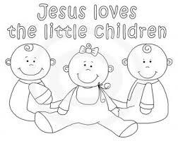 Jesus Loves The Little Children Coloring Pages Free 99 Colorsinfo