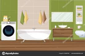 Innenausbau Badezimmer In Ein Modernes Design Mit Einer Kachel 2