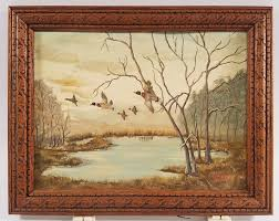 Dorothy Probst Signed Painting of Mallards - shopgoodwill.com