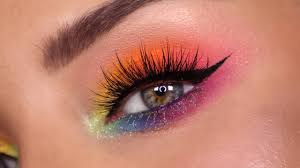 rainbow eyeshadow for pride colourful makeup tutorial feat lunar beauty coloupop more