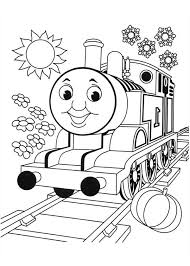 Thomas is Very Happy Today in Thomas and Friends Coloring Page thomas is very happy today in thomas and friends coloring page on coloring thomas and friends