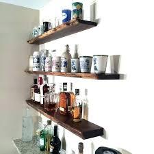 floating bar shelves coffee shelf wall amazing home narrow wood floating bar shelves