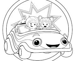 Coloring Pages Team Umizoomi Coloring Pages Bot A Online Team