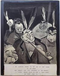 original artwork depicting members of the algonquin round table sam berman 1906 1995