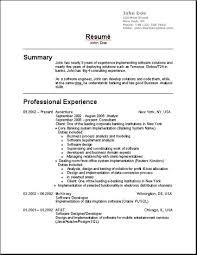 Resume Format Usa
