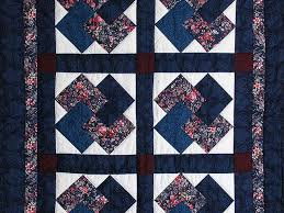 Card Tricks Quilt -- wonderful cleverly made Amish Quilts from ... & ... Navy and Burgundy Card Tricks Wall Hanging Photo 2 ... Adamdwight.com