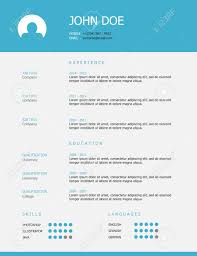 Professional Simple Styled Resume Template Design With Blue Header