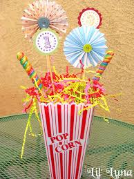 carnival treats centerpieces