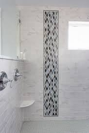 gorgeous walk in shower with subway tile accent ideas