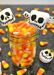 Easy-to-make Jack Skellington Halloween decorations that are edible.  Celebrate The Nightmare