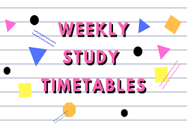 Print It Weekly Study Timetable Parent24