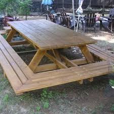 picnic table ideas decor diy plans