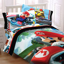game bed sheets set 5pc nintendo super mario kart full bedding set road rumble racing