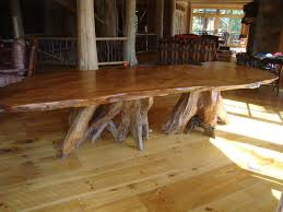 Rustic Dining Room Table Plans Groovy Big Tree Roots Design For Diy Rustic Kitchen Table Plans
