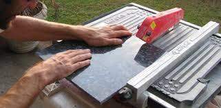 cutting granite tile