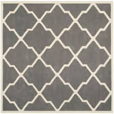 Safavieh Chatham GreyGold 5 ft x 5 ft Square Area Rug CHT715M 5SQ