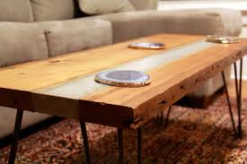 concrete tables for dining best images on projects table with wood inlay restoration hardware