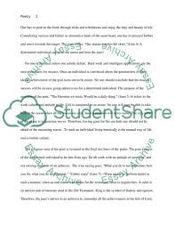 Poetry Analysis Essay Example Topics And Well Written