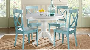 brynwood white 5 pc round dining set dining room sets colors dining chairs astonishing blue