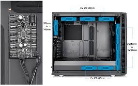 Fractal Design R6 Case Fans Fractal Design Define R6 Usb C Blackout Brushed Aluminum Steel Atx Silent Modular Mid Tower Computer Case
