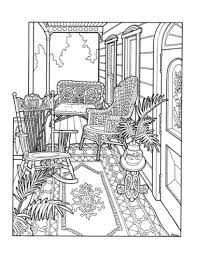 Victorian Porch Coloring Page The Victorian