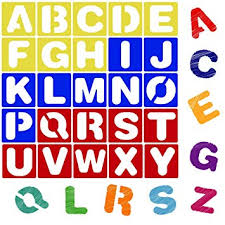 Lettering Templates Karty Alphabet Letter Stencil Set For Kids And Adults Painting Lettering And Drawing Templates Large Plastic Abc Stencils For Protest Posters