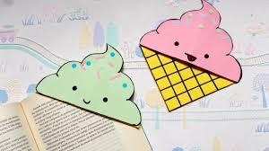 diy icecream bookmark corners back to supplies paper crafts summer crafts origami