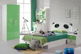 study bedroom furniture. modren furniture kids bedroom furniture sets in green panda theme with white wooden twin bed  headboard also study desk and cupboard