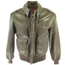 cooper type a 2 goatskin leather jacket h12x