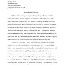 Thesis Essay Example Example Essay High School Vs College Essay Compare And Contrast