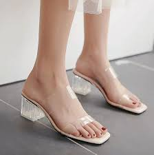 Yesstyle Shoe Size Chart Chunky Heel Transparent Sandals