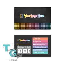 Sales Business Cards Direct Sales Business Card Template Punch Card Business Punch Card Reward Card Chalkboard Dots Rainbow