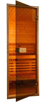 glass sauna doors alder frame