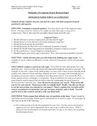 Research Paper Source 10 Stylish College Research Paper Topic Ideas