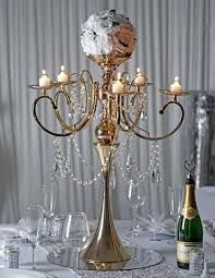 candelabra holder gold metal 5 arm candelabra chandelier votive candle holder centerpiece with crystal chains and candelabra holder