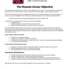 Free Examples Of Resume Objective Cover Letter Pleasant