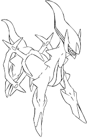 Arceus Lineart 2 By Elsdrake On