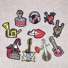 2019 punk sewing embroidery clothing patches for leather attire iron on transfer applique patches for hot melt adhesive accessories patch from kg2007