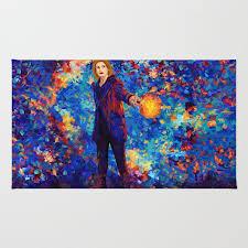beautiful 13th doctor abstract art rug rug point society6 painting digital oil watercolor streetart tardis doctorwho birthday