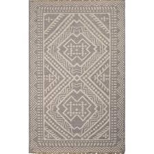 jaipur rugs batik 5 x 8 flat weave wool rug in gray and ivory rug117406