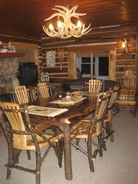 Rustic Log Dining - Rustic chairs for dining room