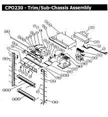 cpo230 wall oven trim assy parts diagram